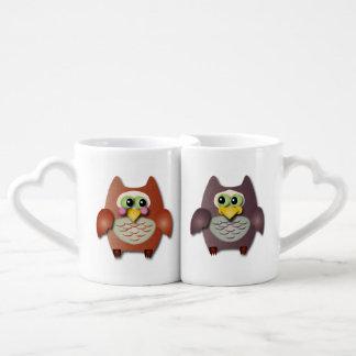 Hiboux mignons dans l'amour mug