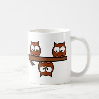 Hiboux originaux mug blanc