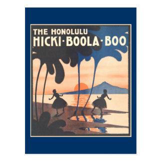 Hicki Boola huent la carte postale