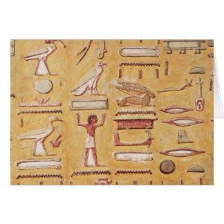 Hiéroglyphes, de la tombe de Seti I Carte De Vœux