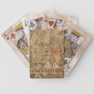 Hiéroglyphique égyptien jeux de cartes