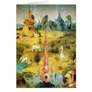 Hieronymus Bosch peignant l'art Carte De Vœux