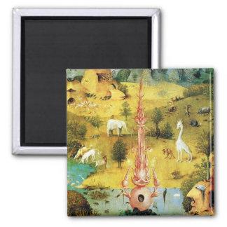 Hieronymus Bosch peignant l'art Magnet Carré