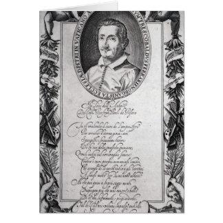 Hieronymus Frescobaldi, gravé par le chrétien Carte De Vœux