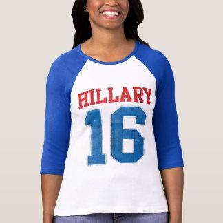 Hillary 2016, base-ball Jersey vintage de fac T-shirt