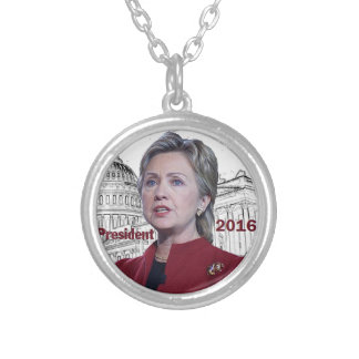 Hillary 2016 pendentif rond