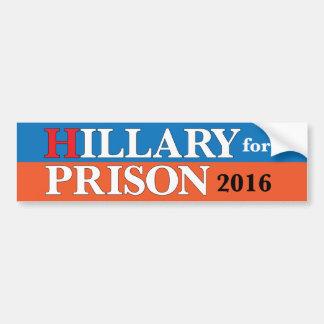 """""""Hillary adhésif pour pare-chocs pour prison 2016"""" Autocollant Pour Voiture"""