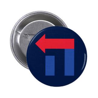 Hillary bleue et rouge dans le bouton hébreu badges