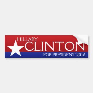 Hillary Clinton 2016 Autocollant De Voiture