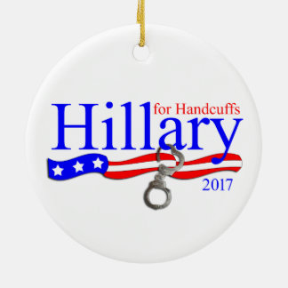 Hillary Clinton en ornement d'arbre de Noël de
