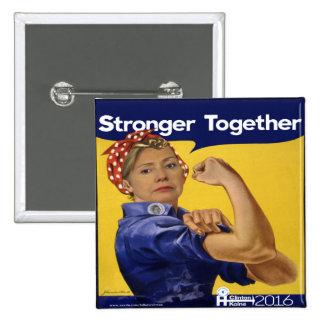 Hillary Clinton plus forte ensemble Badges
