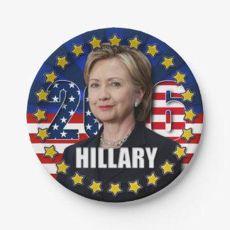 Hillary Clinton pour le président 2016 plaques à Assiettes En Papier