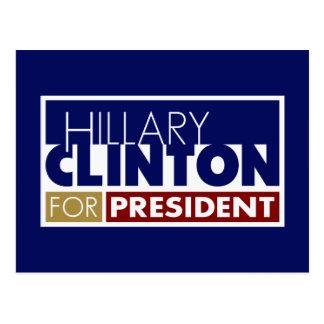 Hillary Clinton pour le Président V1 Carte Postale