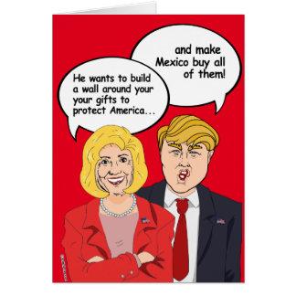 Hillary contre la carte d'anniversaire d'atout -