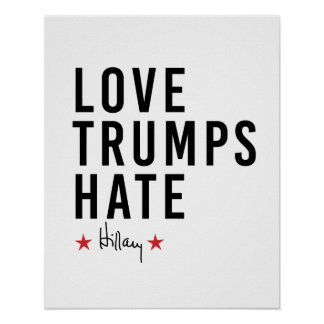 Hillary - haine d'atouts d'amour - poster