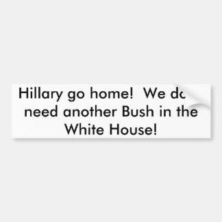 Hillary rentrent à la maison Adhésif pour Adhésifs Pour Voiture