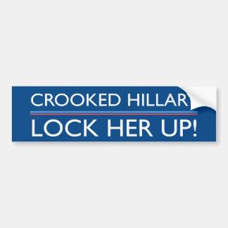 Hillary tordue l'enferment autocollant de voiture