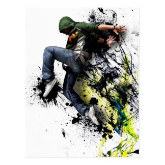 Hip hop dancer carte postale