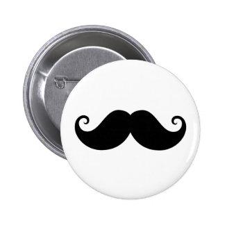Hippie à la mode de moustache noire drôle de guido badge
