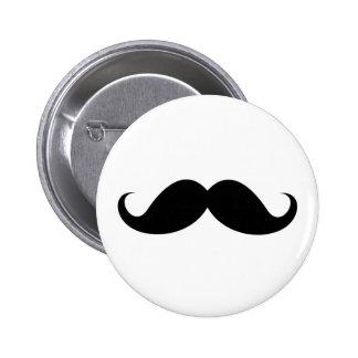 Hippie à la mode de moustache noire drôle de guido pin's