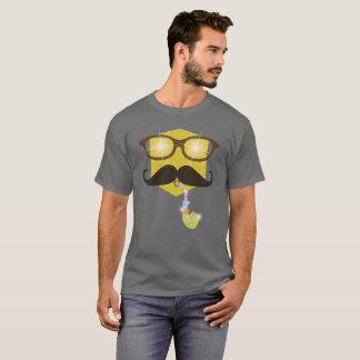 Hippie avec la chemise brillante de partie d'Emoji T-shirt