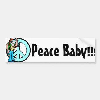 Hippie : Bébé de paix Autocollant De Voiture