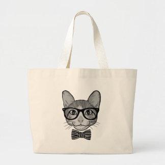 Hippie de chat avec la cravate d'arc sacs de toile