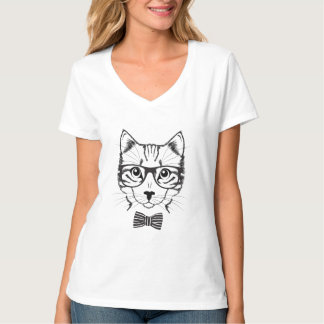 Hippie mignon frais de chat t-shirt