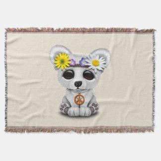 Hippie mignonne de CUB d'ours blanc de bébé Couvre Pied De Lit
