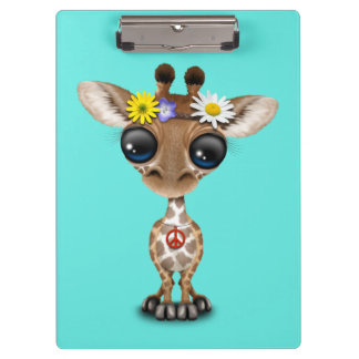 Hippie mignonne de girafe de bébé