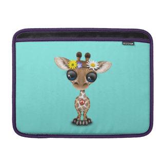 Hippie mignonne de girafe de bébé poche macbook