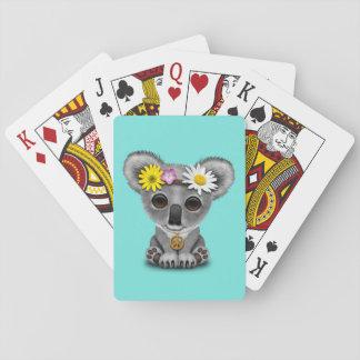 Hippie mignonne de koala de bébé jeu de cartes