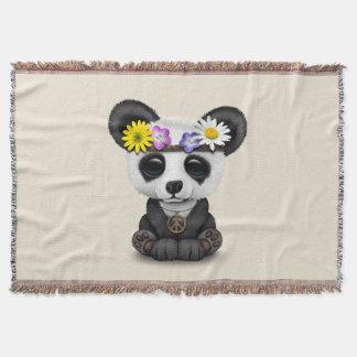 Hippie mignonne de panda de bébé couvre pied de lit