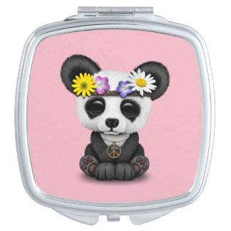 Hippie mignonne de panda de bébé miroir de voyage