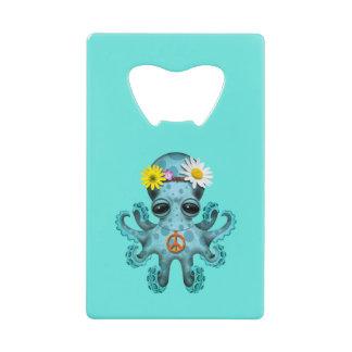 Hippie mignonne de poulpe de bébé bleu