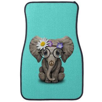 Hippie mignonne d'éléphant de bébé tapis de sol