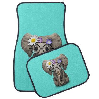Hippie mignonne d'éléphant de bébé tapis de voiture