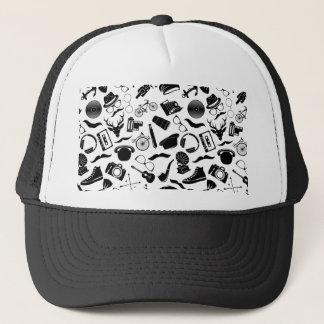 Hippie noir de motif casquette