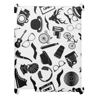 Hippie noir de motif coque iPad
