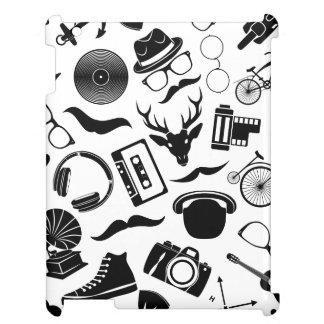 Hippie noir de motif étui iPad