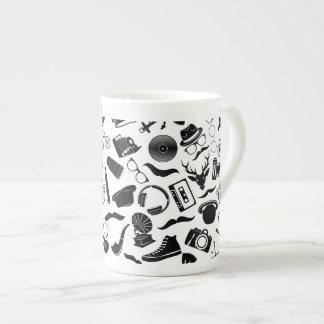 Hippie noir de motif mug