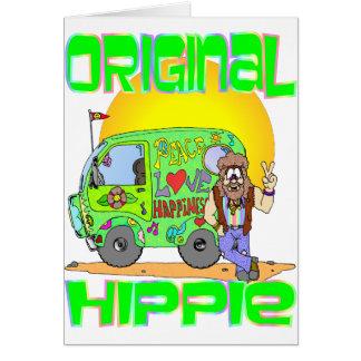 Hippie originale carte de vœux