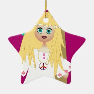 Hippie Ornement Étoile En Céramique