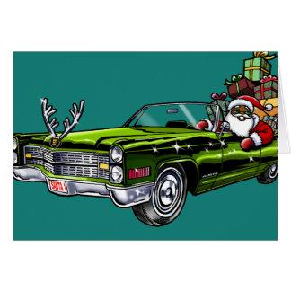 Hippie Père Noël d'Afro-américain Carte De Vœux