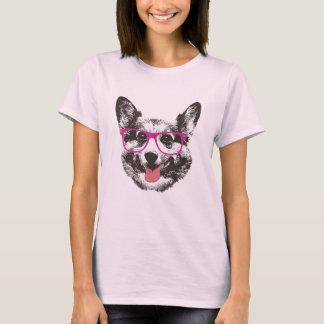 Hippie ringard de chien de corgi t-shirt