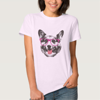 Hippie ringard de chien de corgi t-shirts