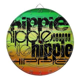 Hippie ; Vert, orange vibrants, et jaune Jeux De Fléchettes
