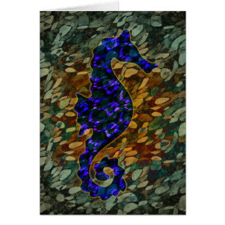 Hippocampe azuré carte de vœux