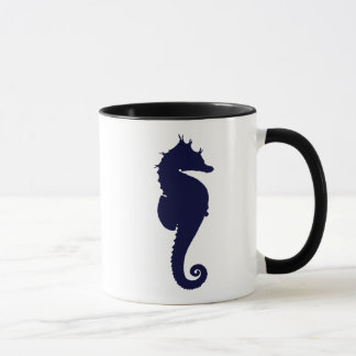 Hippocampe bleu-foncé mugs