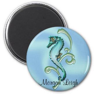 Hippocampe dans l'algue magnets pour réfrigérateur